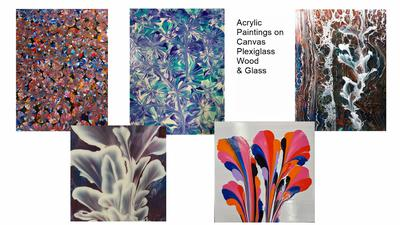 Acrylic Paintings  Various Sizes