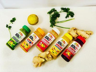 Super Health Juice 5 Flavors ( Immune Health, Men's Health, Women's Health, Brainpower Health, & Sugar Stabilizer Health)