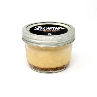 """Sweetie's Cheesecakes 3"""" Jar - Pumpkin Cheesecake"""