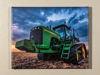 """""""Tractor At Dusk"""" 16""""X20"""" Canvas"""
